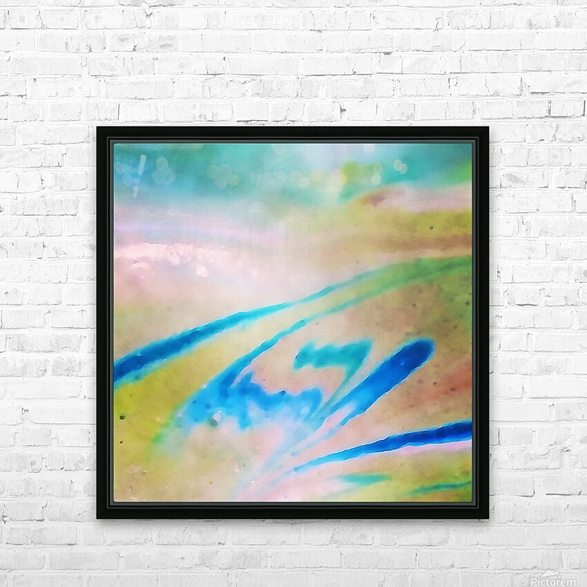 Pierce Anderson Swirls HD Sublimation Metal print with Decorating Float Frame (BOX)