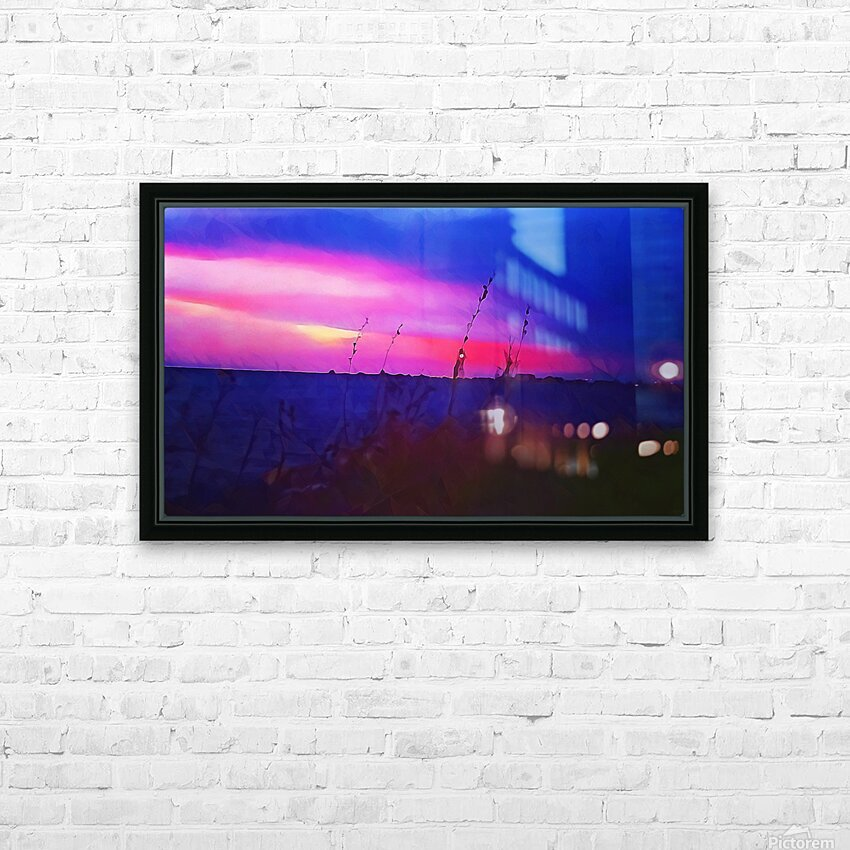 Burst of Pink HD Sublimation Metal print with Decorating Float Frame (BOX)