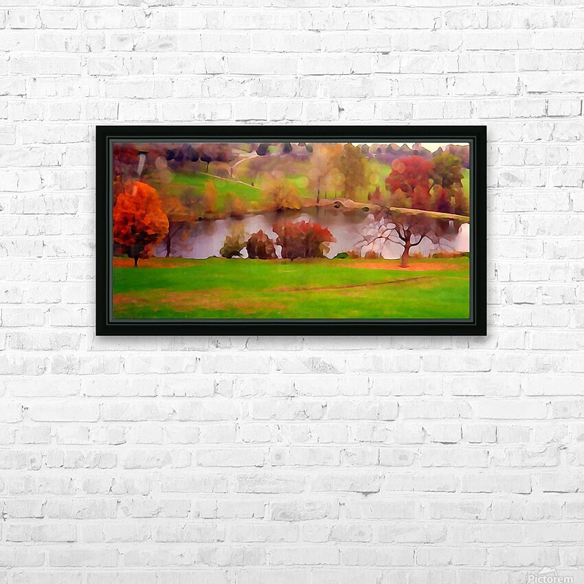 Fall Day at the University of Kansas HD Sublimation Metal print with Decorating Float Frame (BOX)