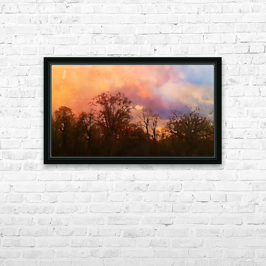 September Storm  HD Sublimation Metal print with Decorating Float Frame (BOX)