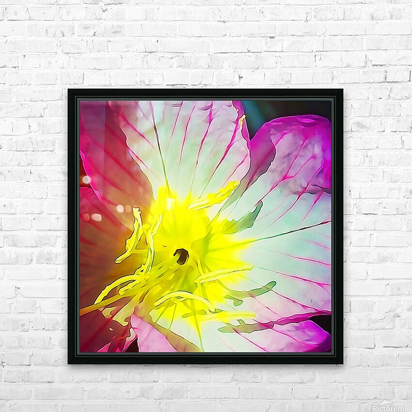 Flower Close Up HD Sublimation Metal print with Decorating Float Frame (BOX)