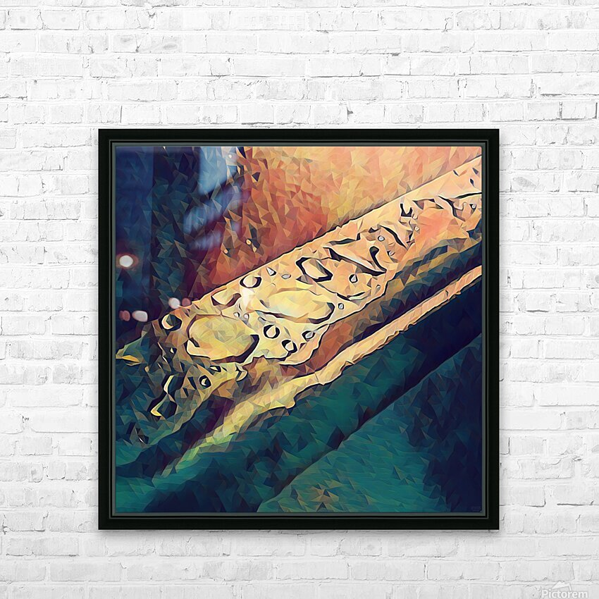 Water Drops HD Sublimation Metal print with Decorating Float Frame (BOX)