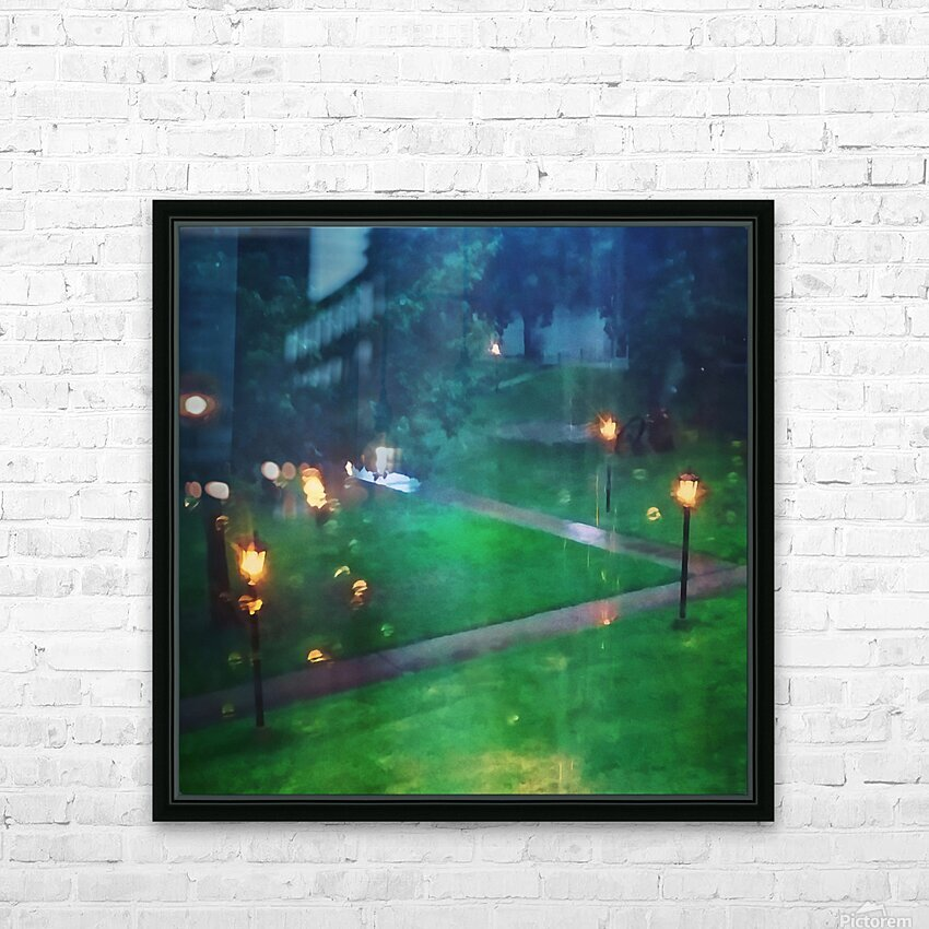 rainy summer afternoon HD Sublimation Metal print with Decorating Float Frame (BOX)