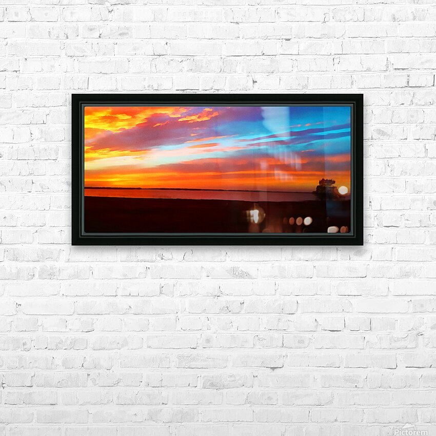 Lake Sky HD Sublimation Metal print with Decorating Float Frame (BOX)