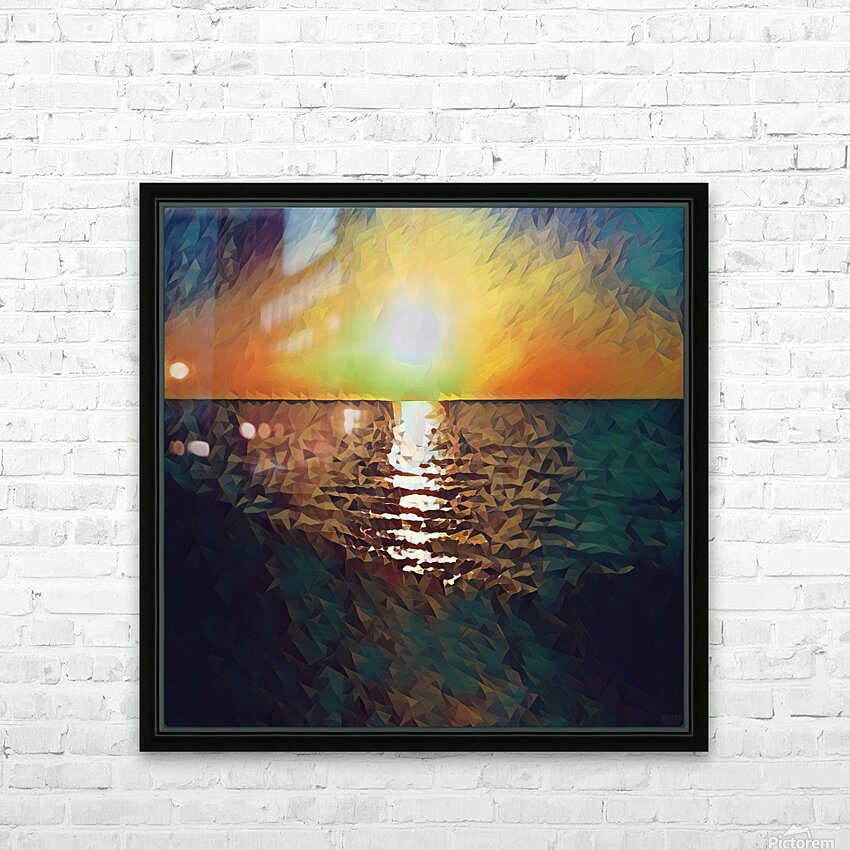 sunset art HD Sublimation Metal print with Decorating Float Frame (BOX)