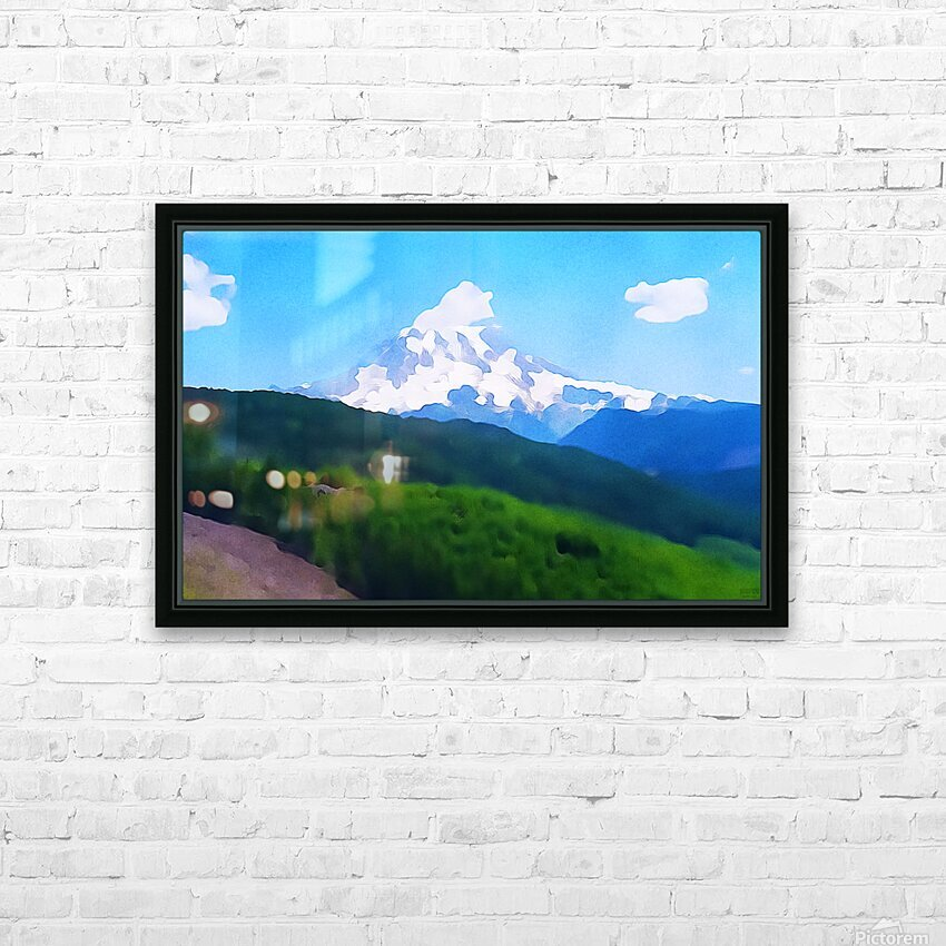 Mt. Ranier HD Sublimation Metal print with Decorating Float Frame (BOX)