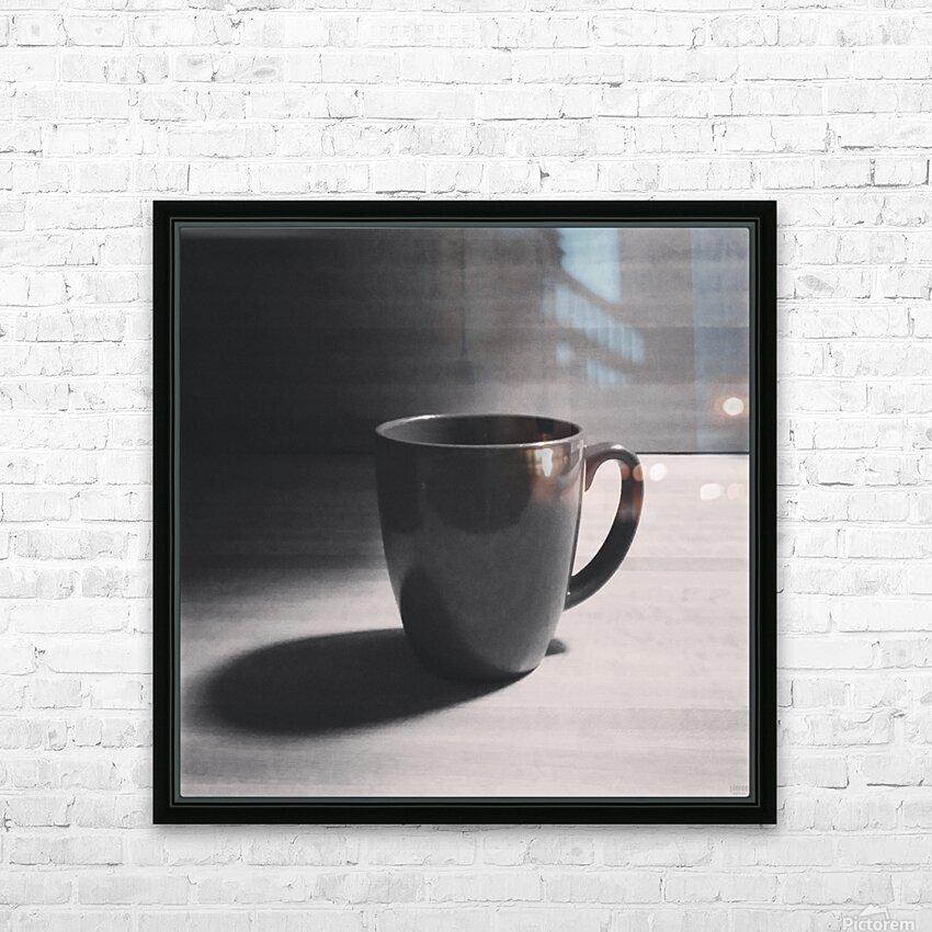 coffee mug HD Sublimation Metal print with Decorating Float Frame (BOX)