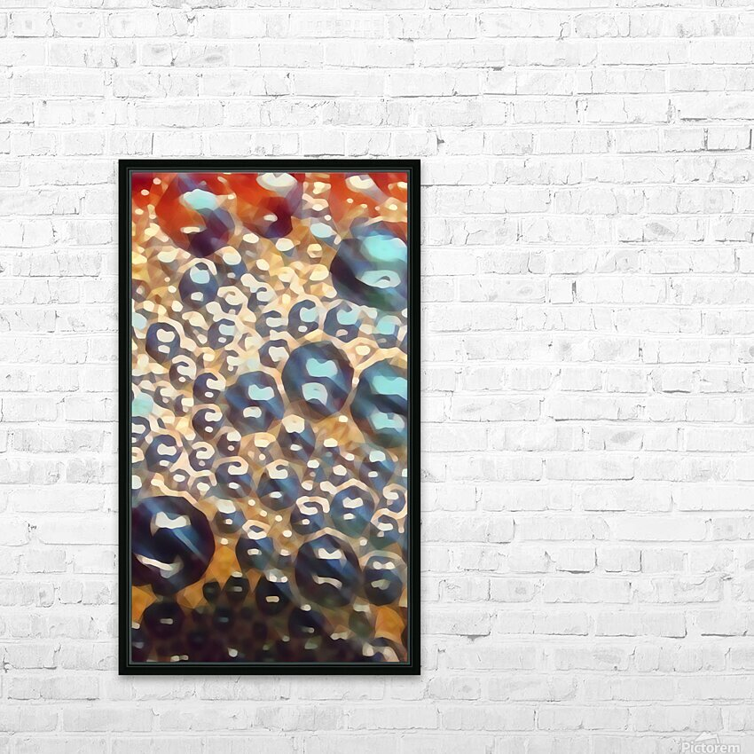 coffee bubbles art HD Sublimation Metal print with Decorating Float Frame (BOX)