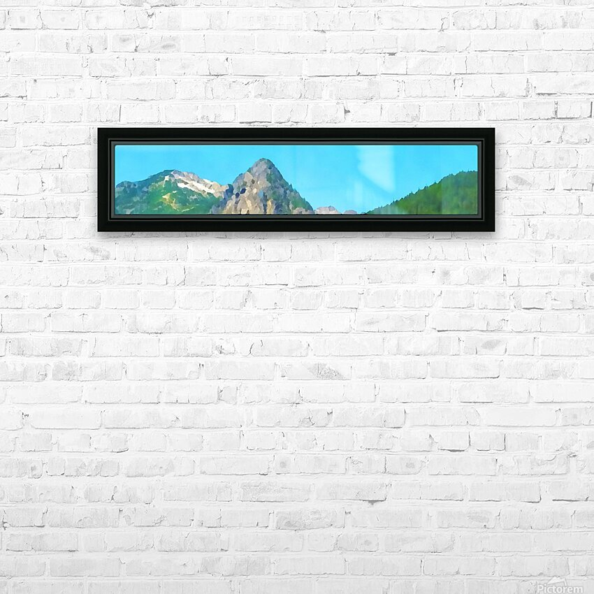 seattle mountains HD Sublimation Metal print with Decorating Float Frame (BOX)