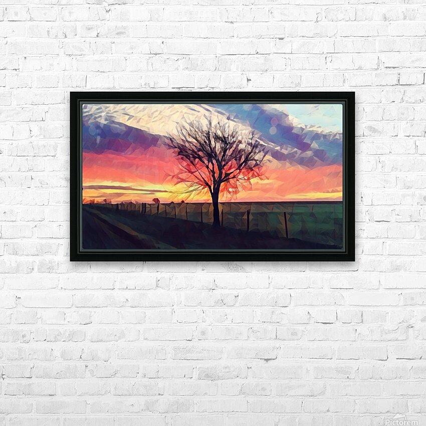 winter tree HD Sublimation Metal print with Decorating Float Frame (BOX)