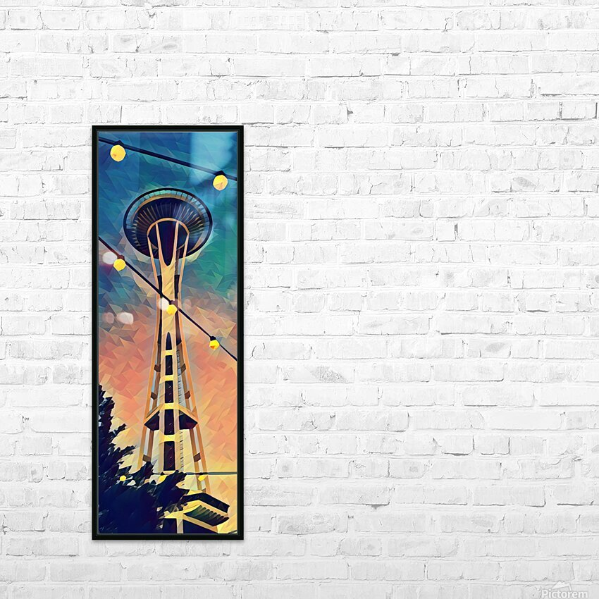 seattle space needle HD Sublimation Metal print with Decorating Float Frame (BOX)