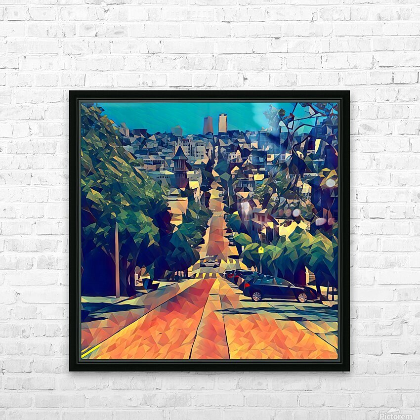san francisco steep HD Sublimation Metal print with Decorating Float Frame (BOX)