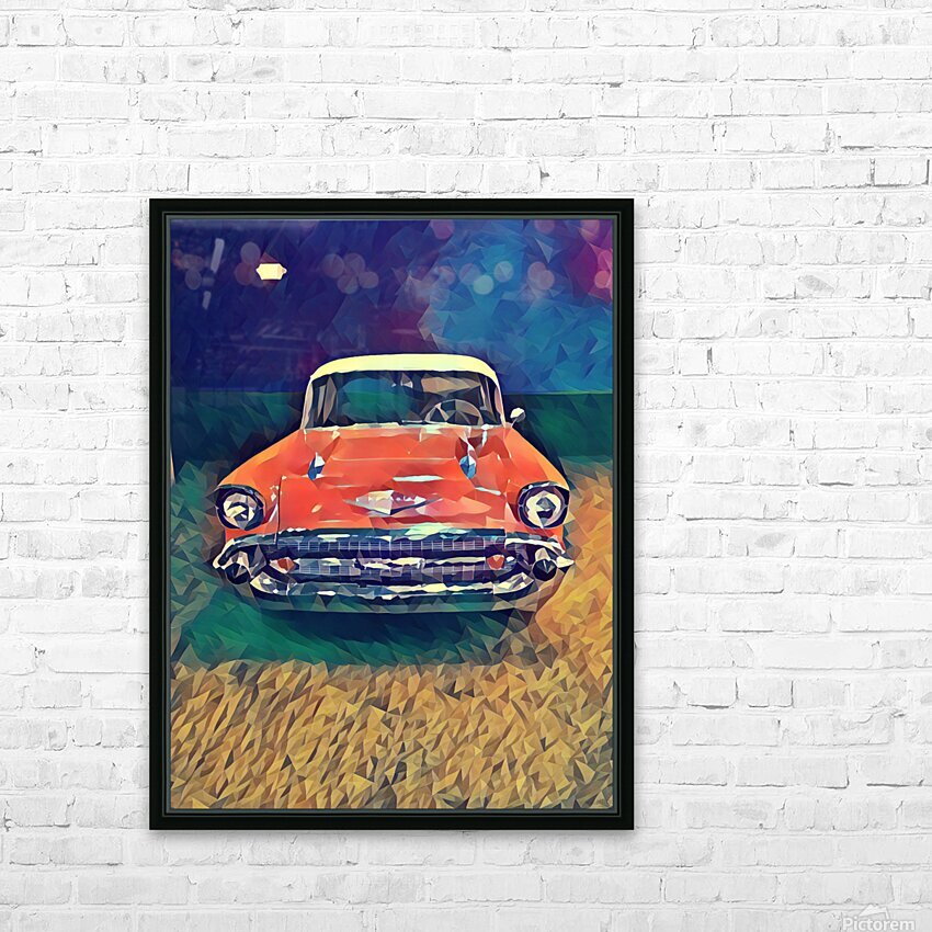 57 chevy car art HD Sublimation Metal print with Decorating Float Frame (BOX)