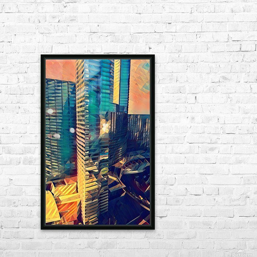 las vegas reflections HD Sublimation Metal print with Decorating Float Frame (BOX)