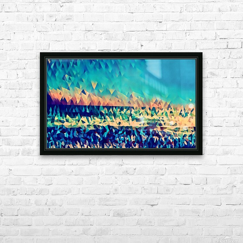 abstract blue sky ocean HD Sublimation Metal print with Decorating Float Frame (BOX)
