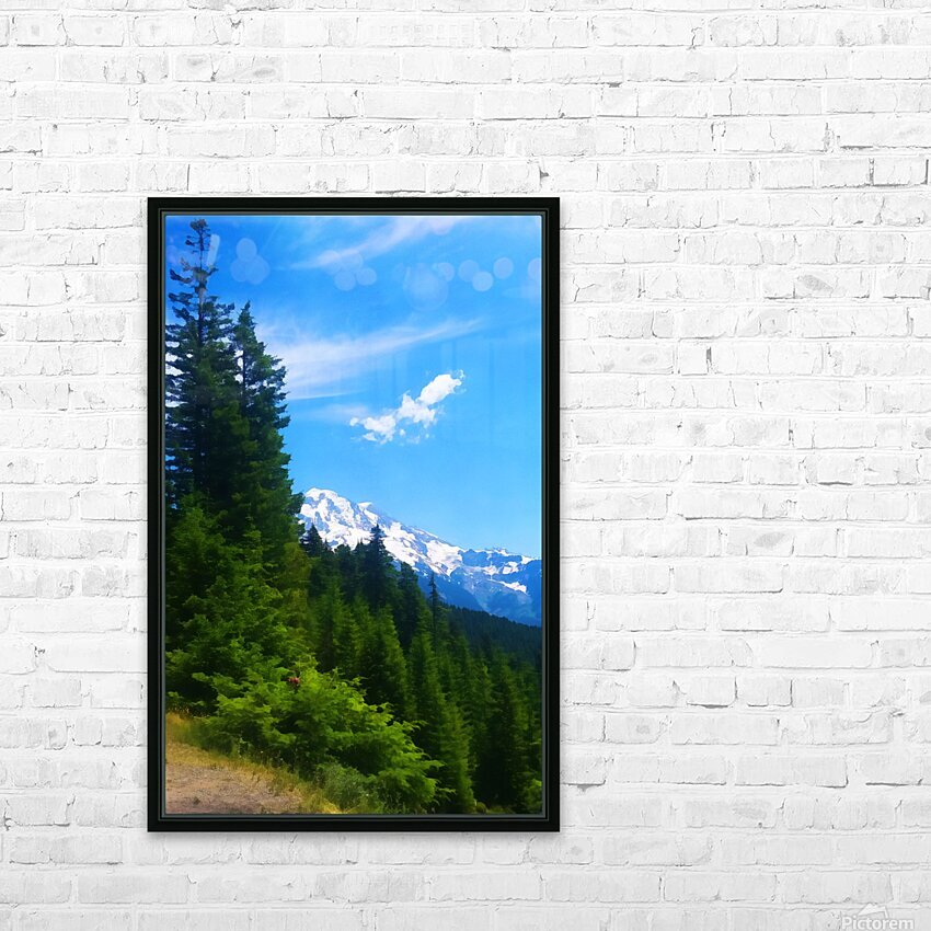 washington state mountains HD Sublimation Metal print with Decorating Float Frame (BOX)