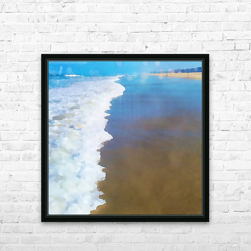 manhattan beach watercolor HD Sublimation Metal print with Decorating Float Frame (BOX)