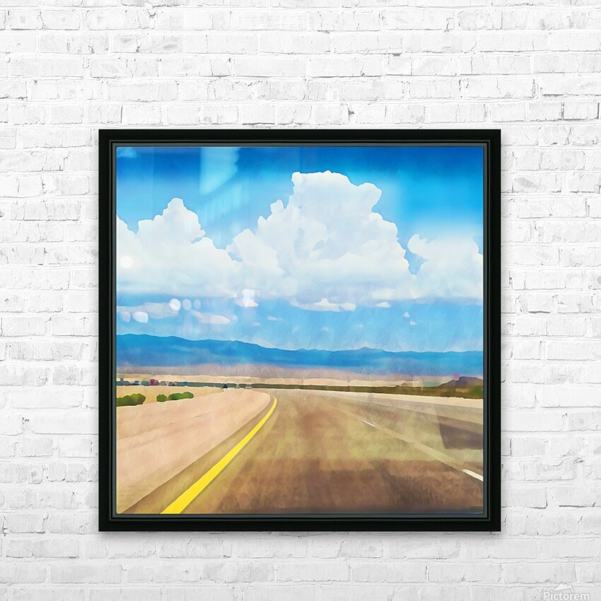 the road ahead HD Sublimation Metal print with Decorating Float Frame (BOX)