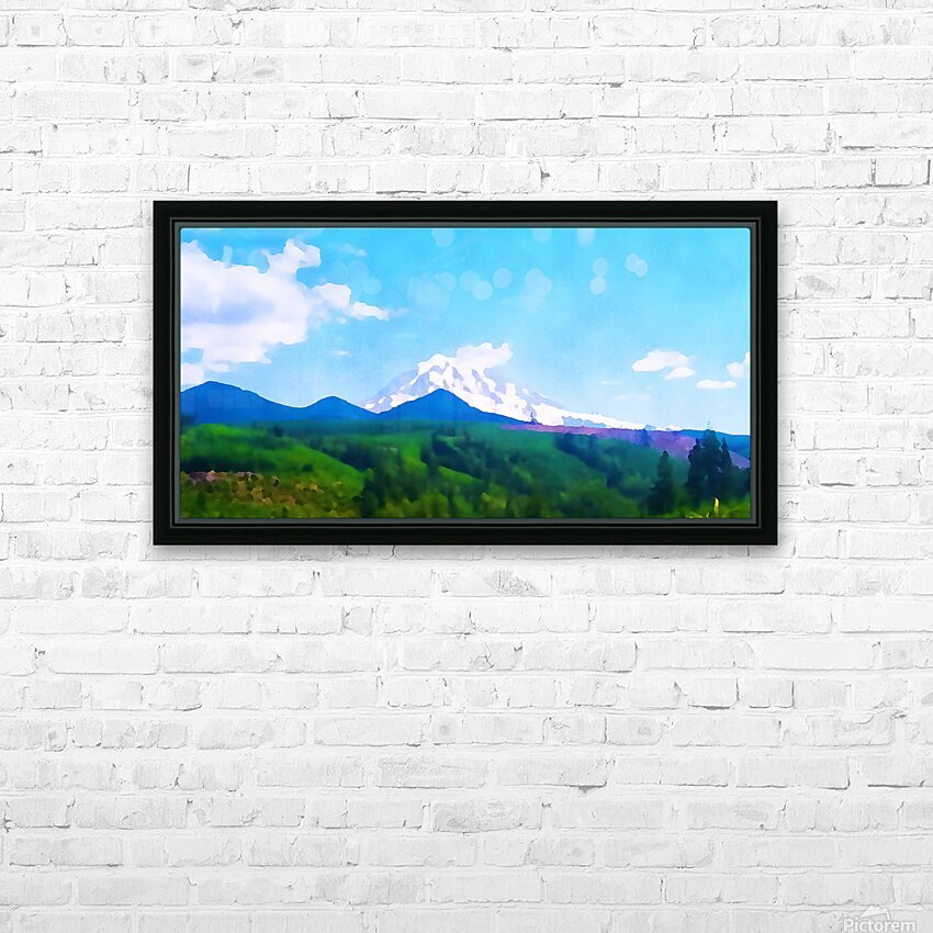 mt ranier clouds HD Sublimation Metal print with Decorating Float Frame (BOX)