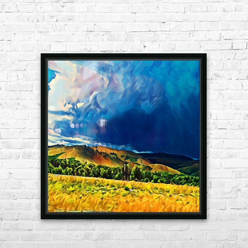 impending storm HD Sublimation Metal print with Decorating Float Frame (BOX)
