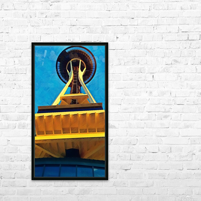 seattle space needle abstract HD Sublimation Metal print with Decorating Float Frame (BOX)