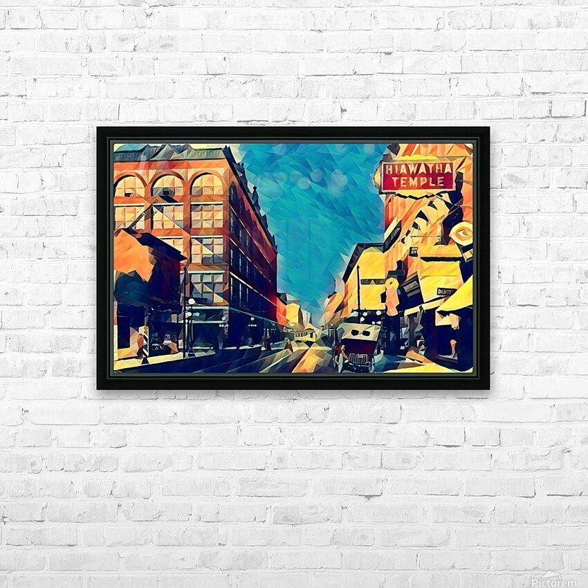 1915 st paul wabasha street HD Sublimation Metal print with Decorating Float Frame (BOX)