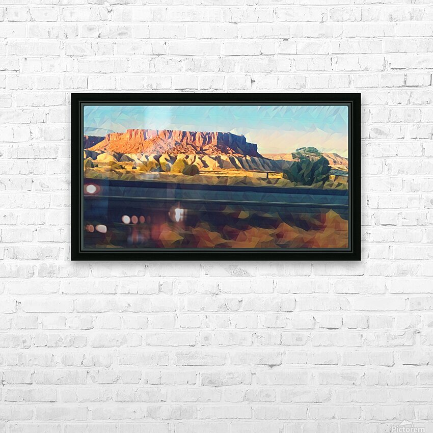 new mexico highway HD Sublimation Metal print with Decorating Float Frame (BOX)