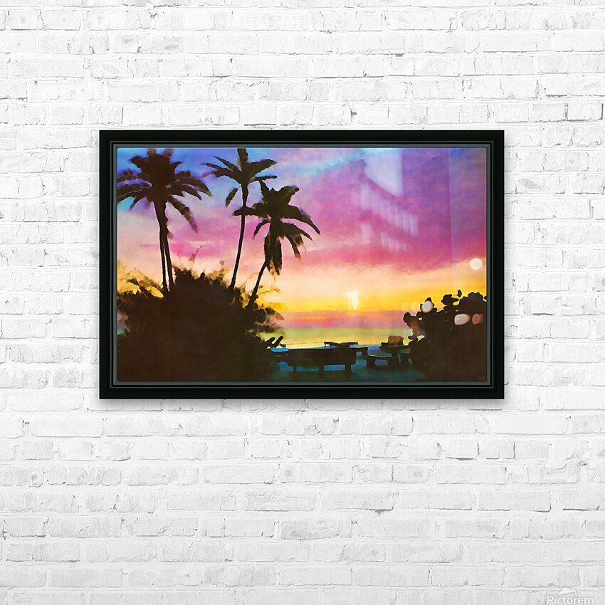 gulf of mexico sunset art HD Sublimation Metal print with Decorating Float Frame (BOX)