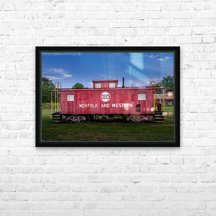 Norfolk & Western Caboose HD Sublimation Metal print with Decorating Float Frame (BOX)