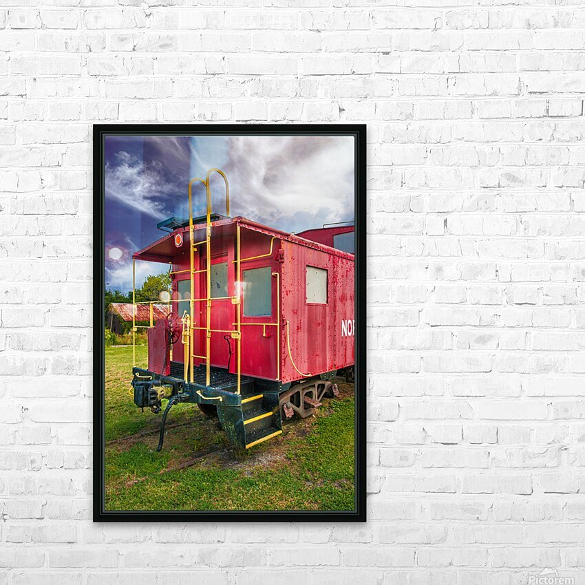 Caboose HD Sublimation Metal print with Decorating Float Frame (BOX)
