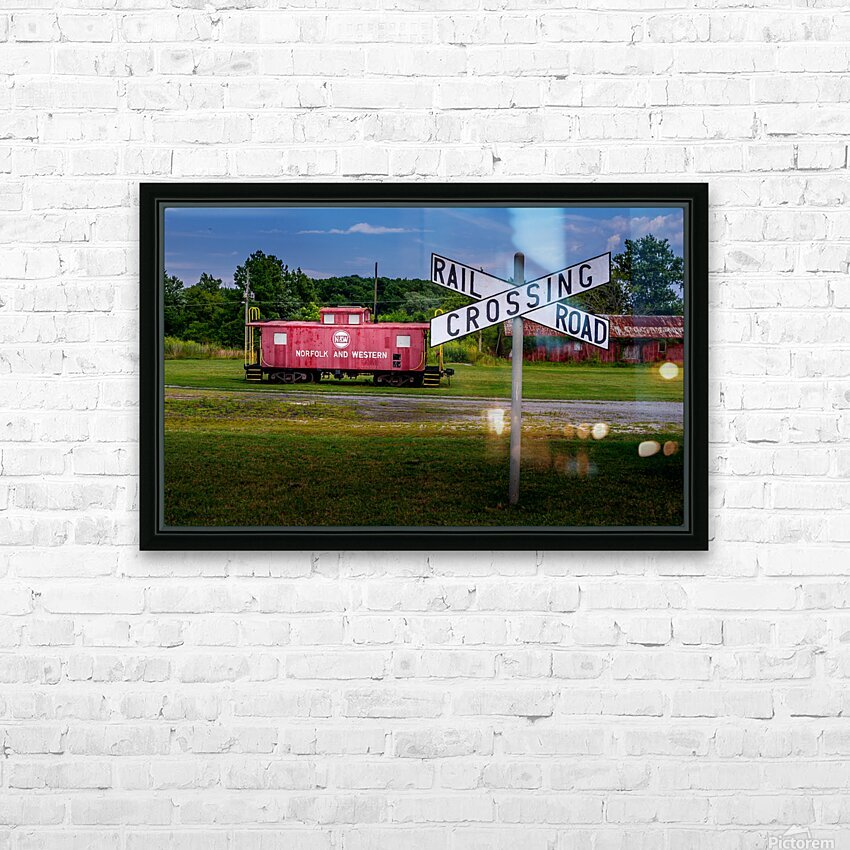 Rail Car in Exmore VA HD Sublimation Metal print with Decorating Float Frame (BOX)
