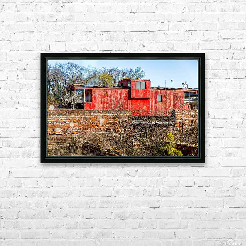Rail Car in Petersburg VA HD Sublimation Metal print with Decorating Float Frame (BOX)