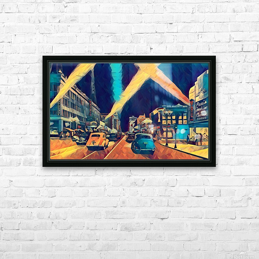 vintage hollywood HD Sublimation Metal print with Decorating Float Frame (BOX)