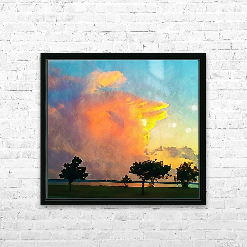 thunder cloud HD Sublimation Metal print with Decorating Float Frame (BOX)
