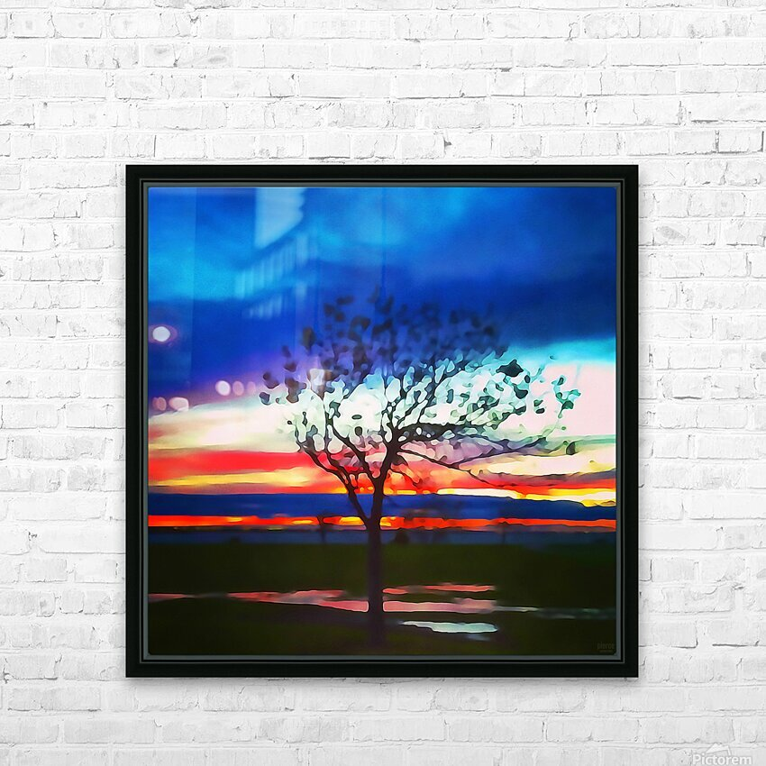 after the rain HD Sublimation Metal print with Decorating Float Frame (BOX)