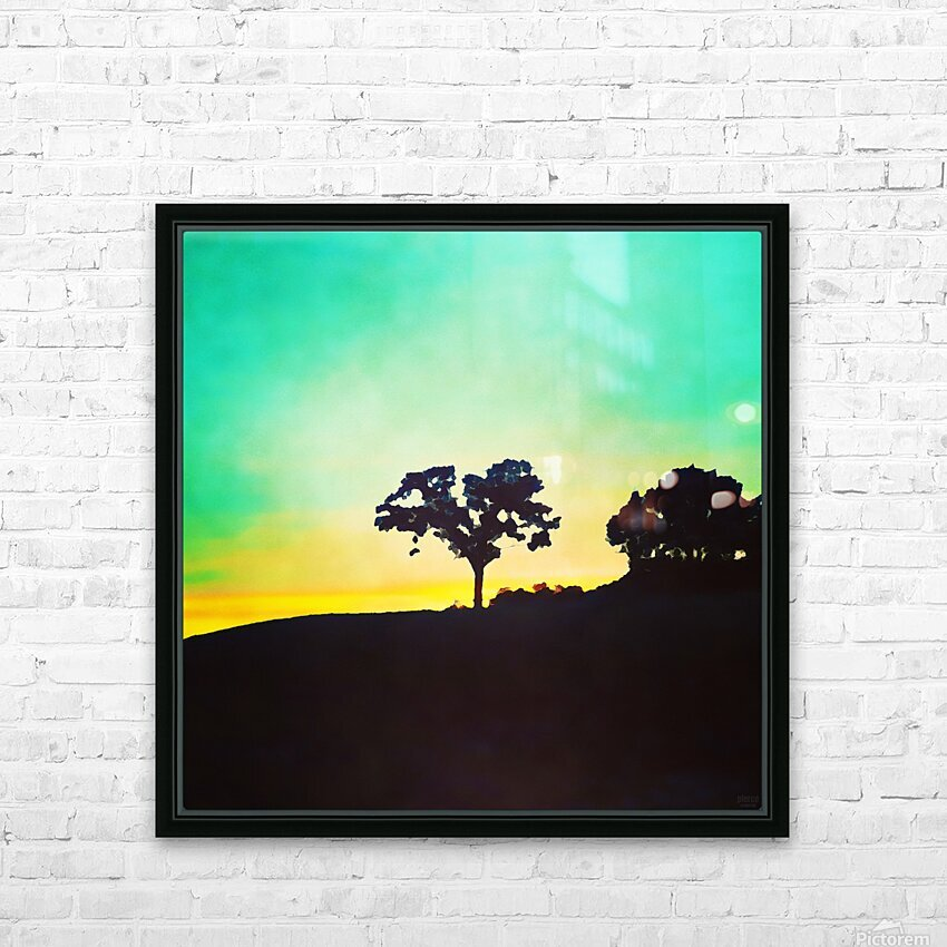 hill tree HD Sublimation Metal print with Decorating Float Frame (BOX)
