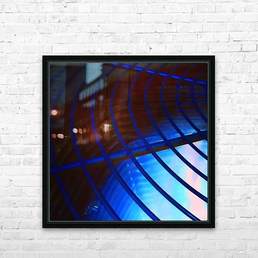 abstract blue curved lines HD Sublimation Metal print with Decorating Float Frame (BOX)