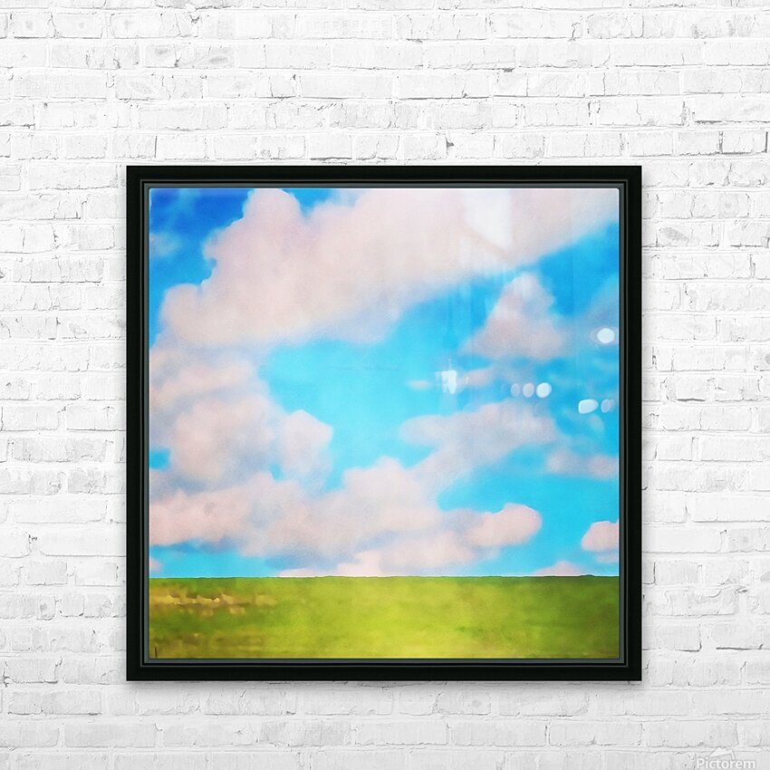 fluffy afternoon HD Sublimation Metal print with Decorating Float Frame (BOX)