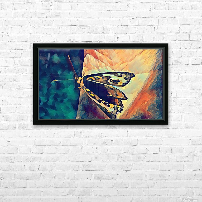 butterfly art HD Sublimation Metal print with Decorating Float Frame (BOX)