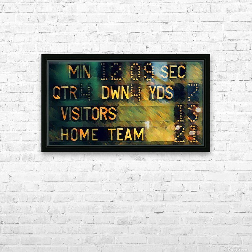 Football Scoreboard Art HD Sublimation Metal print with Decorating Float Frame (BOX)