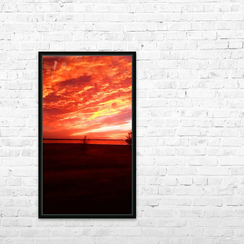 red sky HD Sublimation Metal print with Decorating Float Frame (BOX)