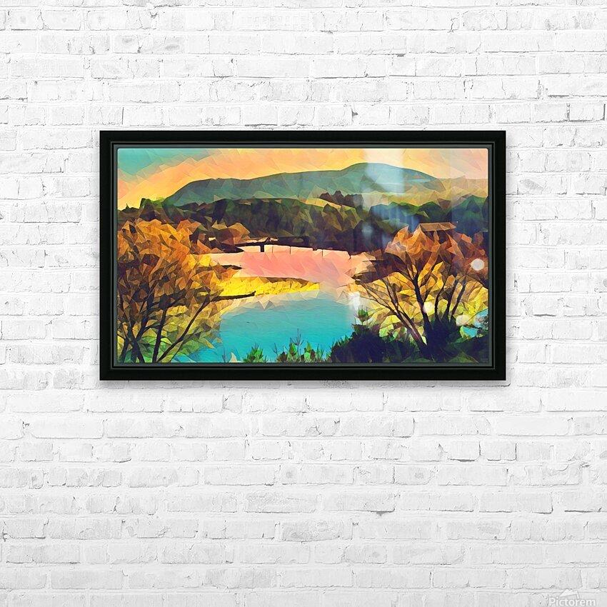 housatonic river monument mountain stockbridge mass HD Sublimation Metal print with Decorating Float Frame (BOX)