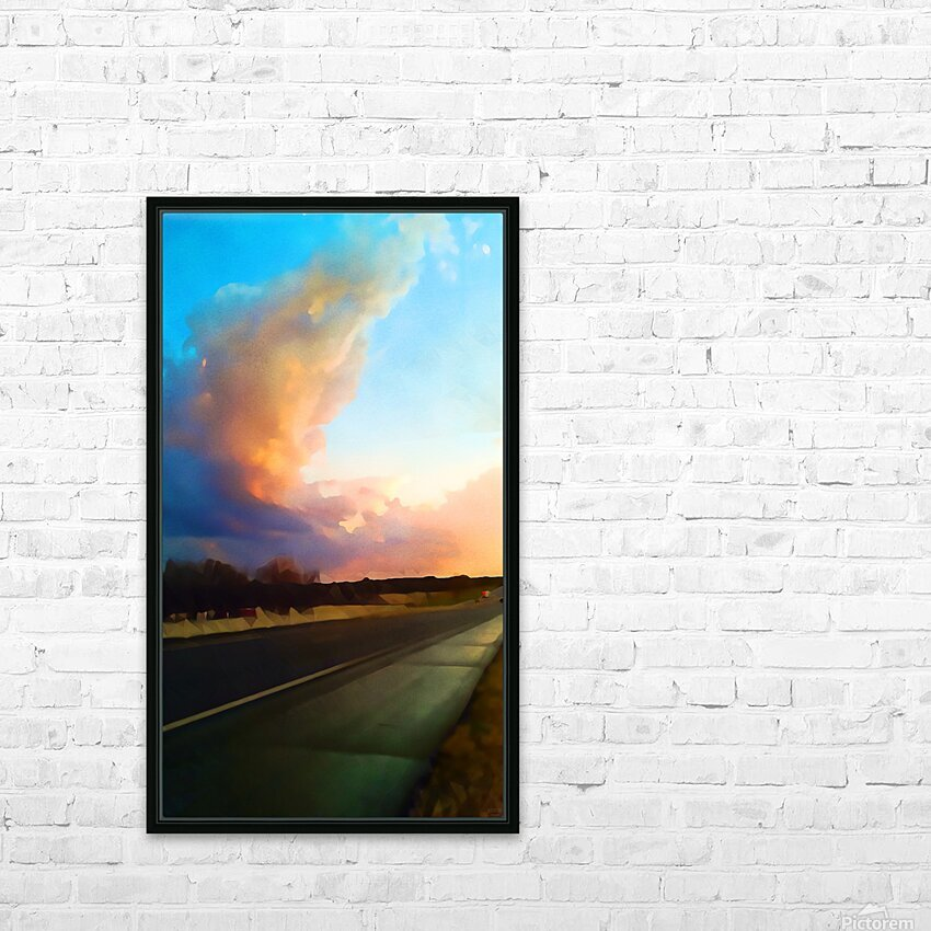 highway beauty HD Sublimation Metal print with Decorating Float Frame (BOX)