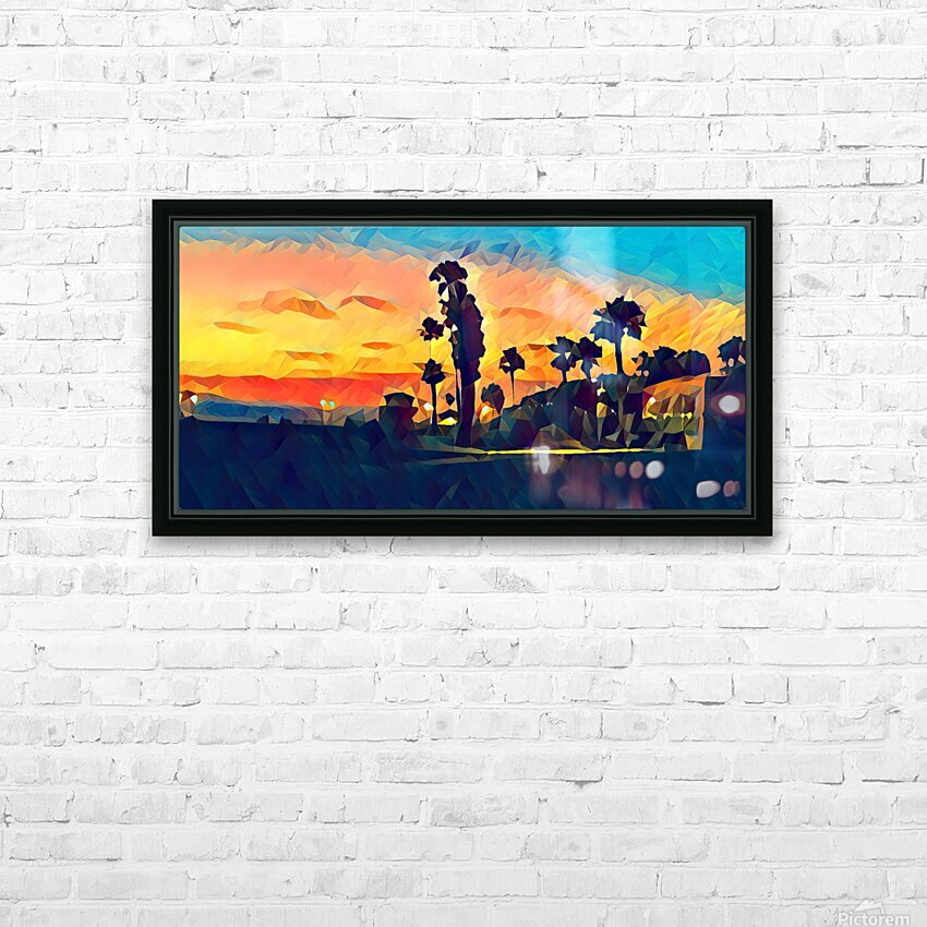 manhattan beach night HD Sublimation Metal print with Decorating Float Frame (BOX)