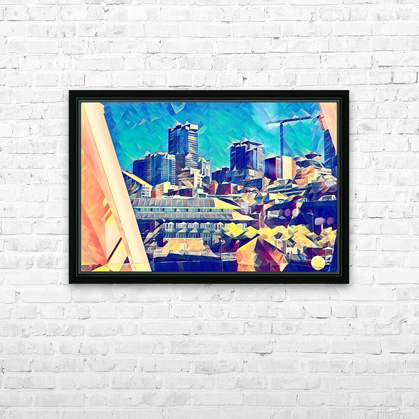 seattle under construction  1  HD Sublimation Metal print with Decorating Float Frame (BOX)