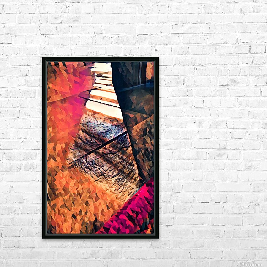 kitchen tiles morning greeting HD Sublimation Metal print with Decorating Float Frame (BOX)