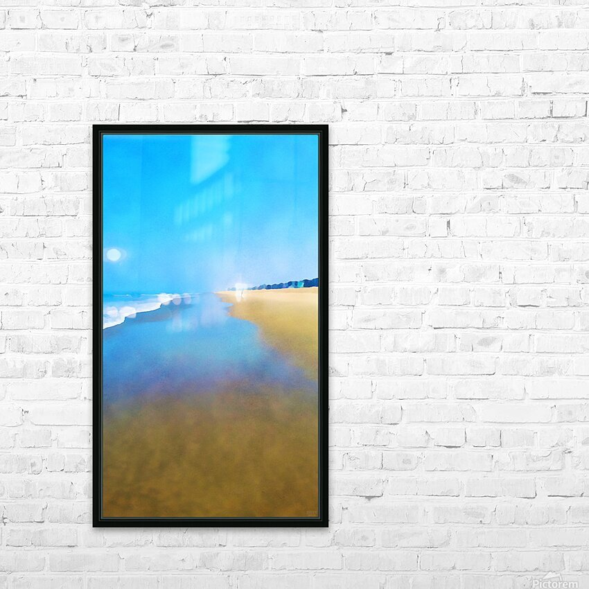 Manhattan Beach Pathway HD Sublimation Metal print with Decorating Float Frame (BOX)