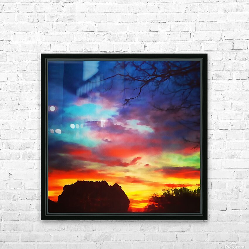 Bounty of Color HD Sublimation Metal print with Decorating Float Frame (BOX)