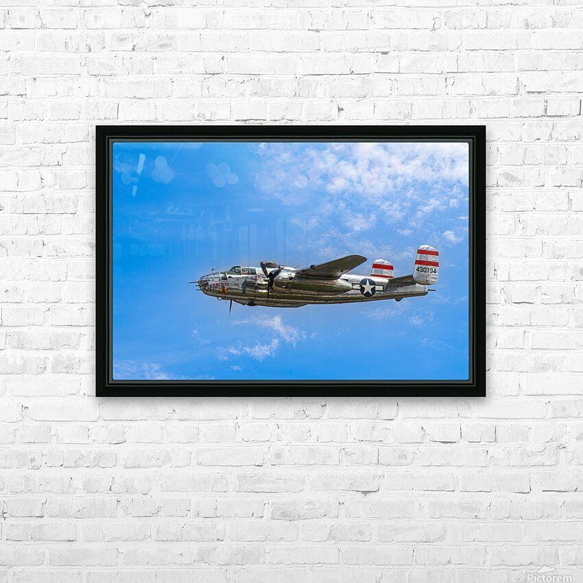 Panchito B25 In Flight HD Sublimation Metal print with Decorating Float Frame (BOX)