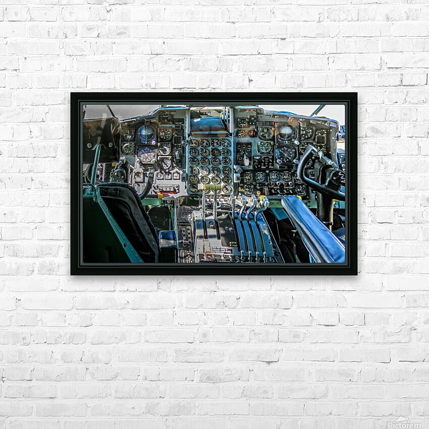 Aircraft Cockpit HD Sublimation Metal print with Decorating Float Frame (BOX)
